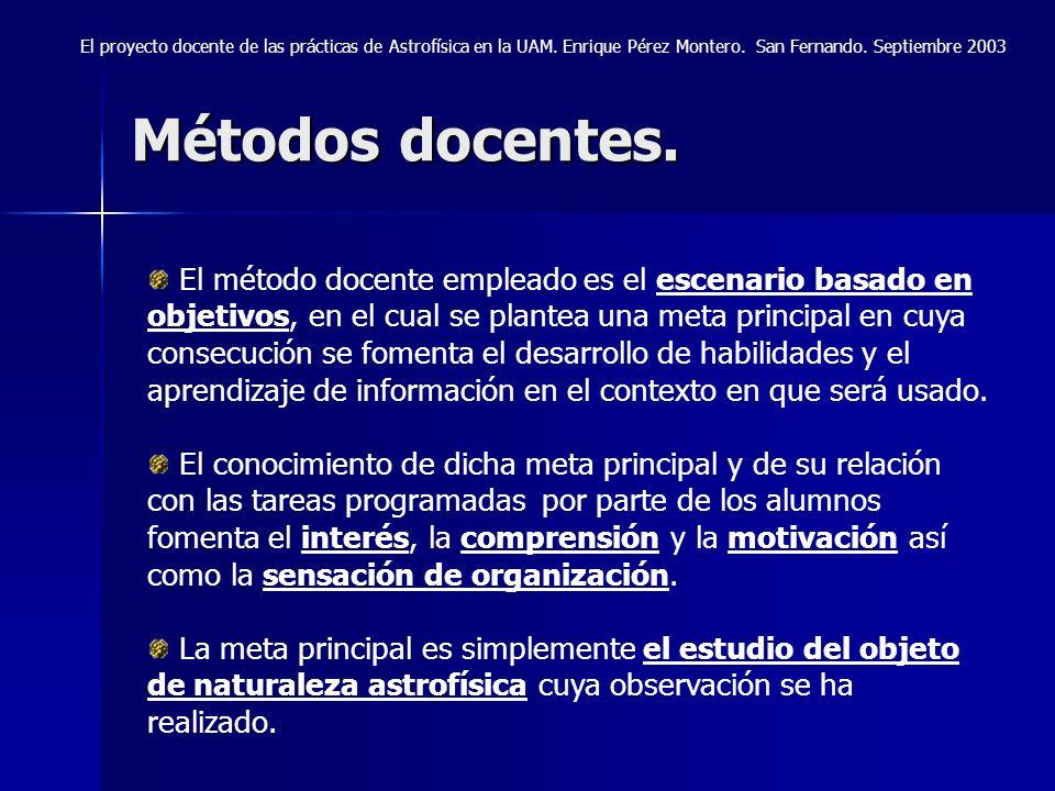 El proyecto docente de las prácticas de Astrofísica en la UAM Enrique Pérez Montero Universidad Autónoma de Madrid Jornadas Científicas 250 Aniversario Observatorio de la Armada.