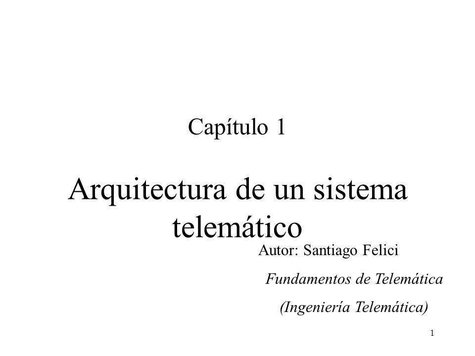 1 Capítulo 1 Arquitectura de un sistema telemático Autor: Santiago Felici Fundamentos de Telemática (Ingeniería Telemática)