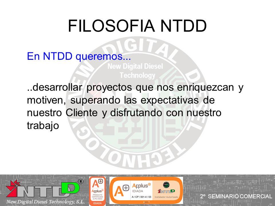 FILOSOFIA NTDD En NTDD queremos.....desarrollar proyectos que nos enriquezcan y motiven, superando las expectativas de nuestro Cliente y disfrutando c