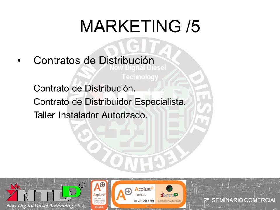MARKETING /5 I SEMINARIO COMERCIAL Contratos de Distribución Contrato de Distribución. Contrato de Distribuidor Especialista. Taller Instalador Autori