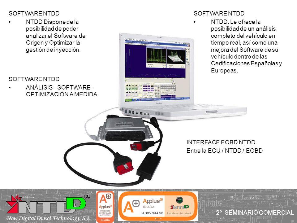 2º SEMINARIO COMERCIAL New Digital Diesel Technology, S.L. SOFTWARE NTDD NTDD Dispone de la posibilidad de poder analizar el Software de Origen y Opti