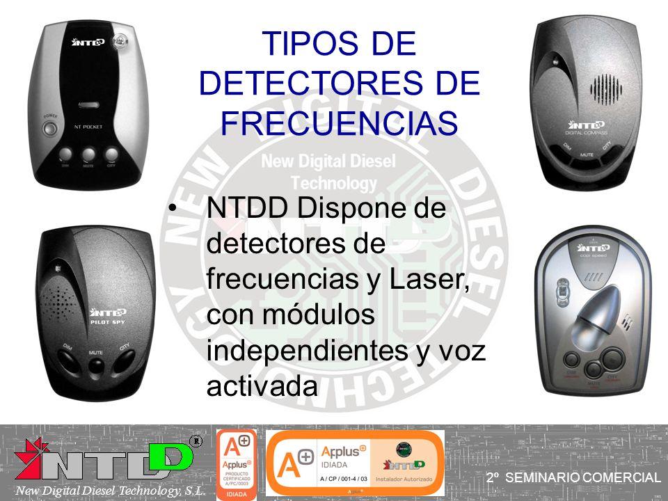 TIPOS DE DETECTORES DE FRECUENCIAS NTDD Dispone de detectores de frecuencias y Laser, con módulos independientes y voz activada 2º SEMINARIO COMERCIAL