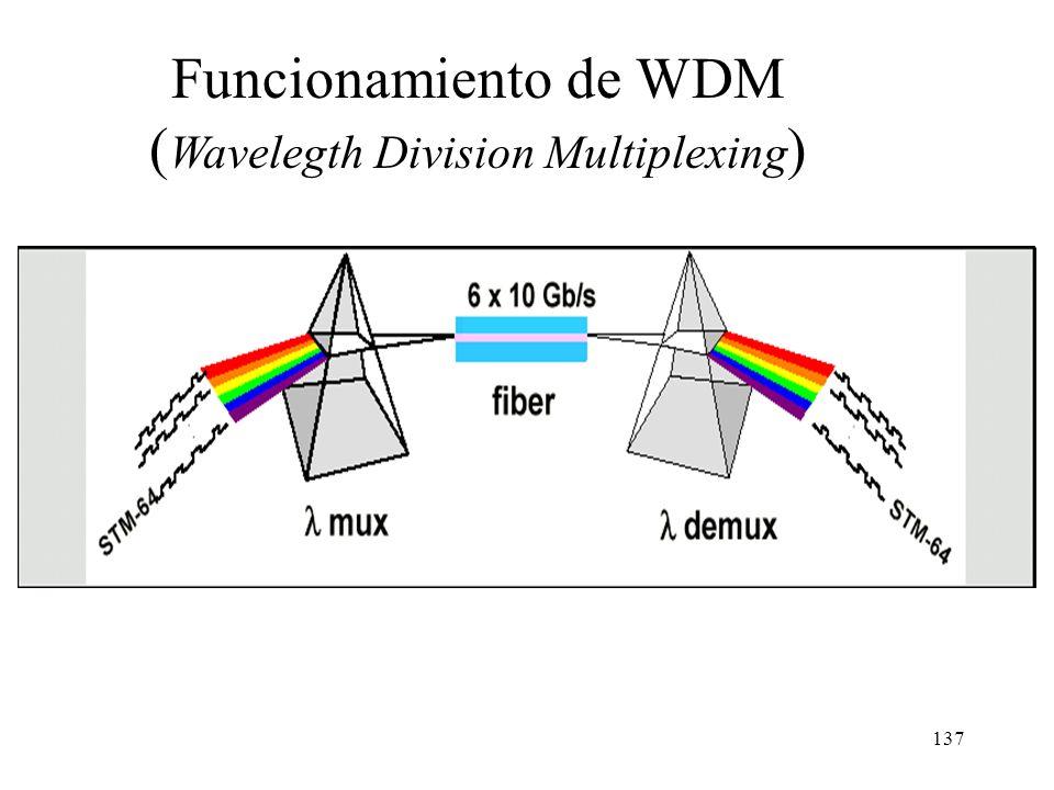 136 Problemas de SONET/SDH La máxima velocidad disponible en equipos comerciales SONET/SDH es OC-192 (STM-64) = 10 Gb/s. Tecnológicamente es muy difíc