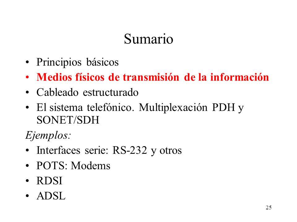 24 Ley de Shannon (1948) La cantidad de información digital (límite y teórica) que puede transferirse por un canal analógico está limitada por su anch