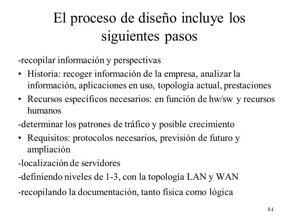 83 Factores críticos de una LAN -emplazamiento de servidores (localización de los servidores, que se pueden clasificar en de enterprise o servidores g
