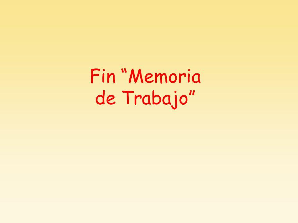 Fin Memoria de Trabajo