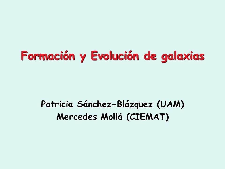Formación y Evolución de galaxias Patricia Sánchez-Blázquez (UAM) Mercedes Mollá (CIEMAT)