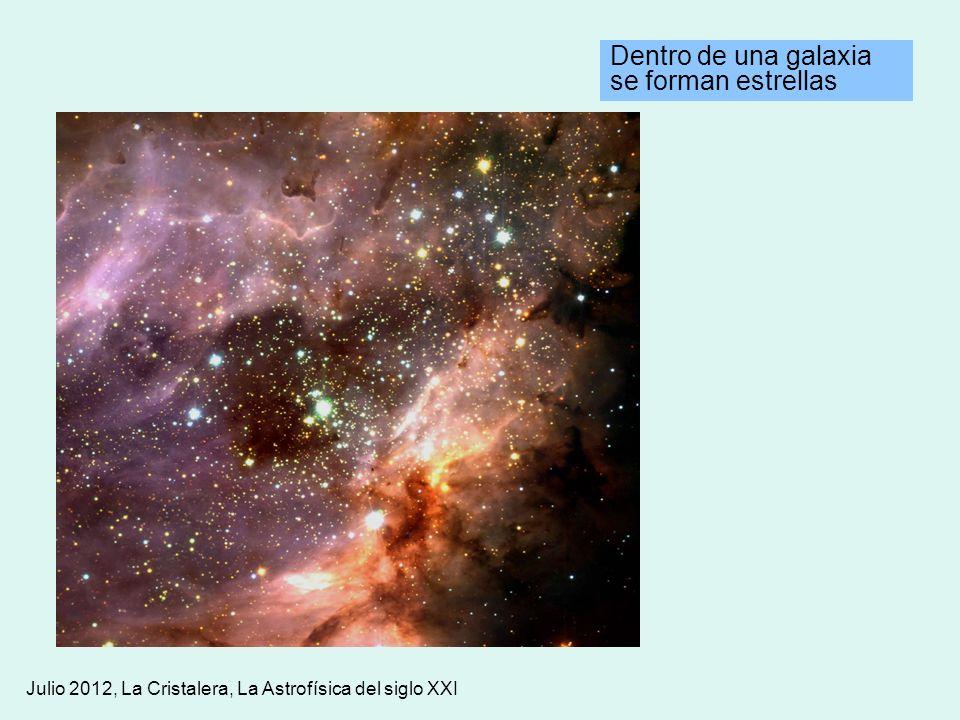 Julio 2012, La Cristalera, La Astrofísica del siglo XXI Dentro de una galaxia se forman estrellas