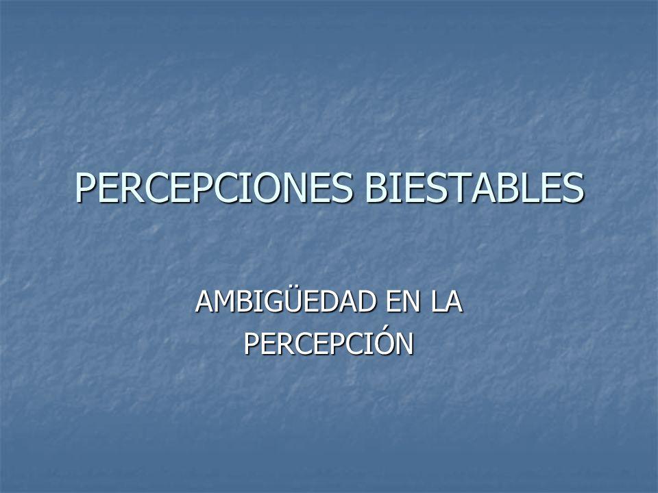 PERCEPCIONES BIESTABLES AMBIGÜEDAD EN LA PERCEPCIÓN