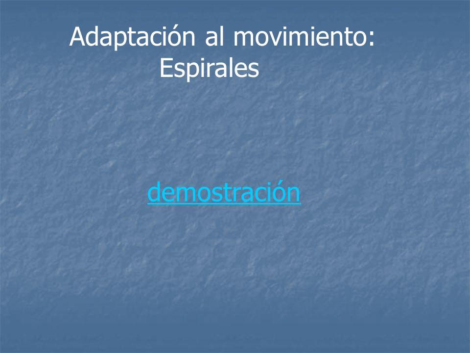 Adaptación al movimiento: Espirales demostración