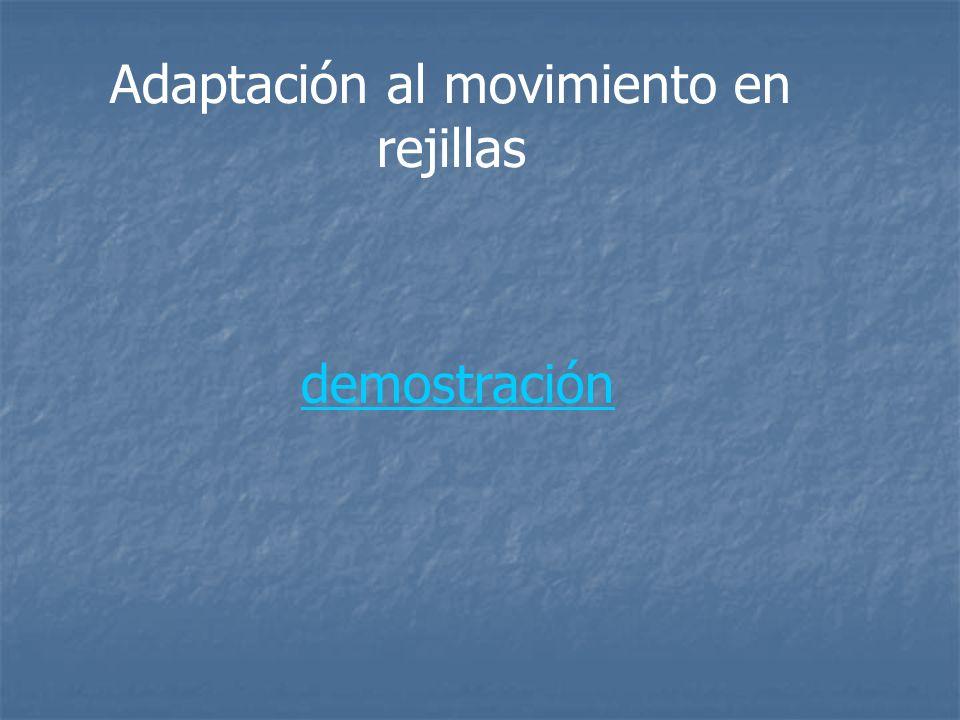 Adaptación al movimiento en rejillas demostración