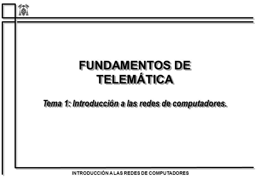 INTRODUCCIÓN A LAS REDES DE COMPUTADORES Identificar las diferentes aplicaciones de los sistemas de comunicaciones.
