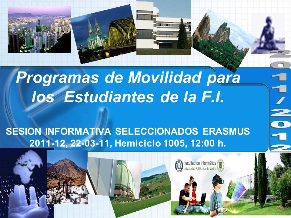 Programas de Movilidad para los Estudiantes de la F.I.