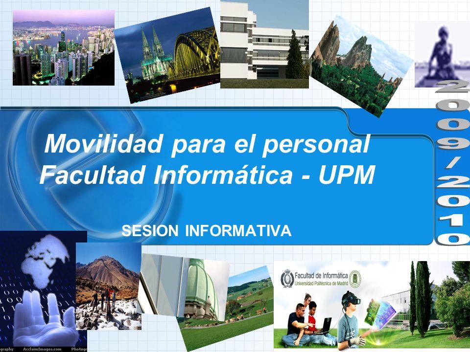 Movilidad para el personal Facultad Informática - UPM SESION INFORMATIVA