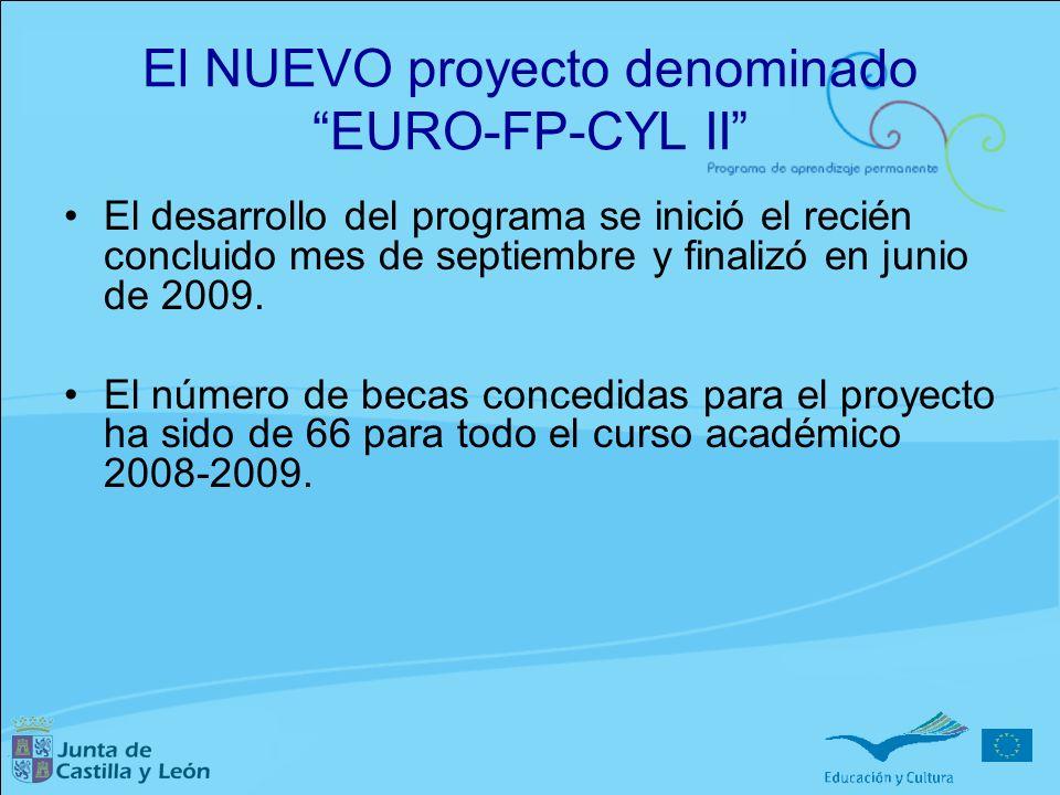 El NUEVO proyecto denominado EURO-FP-CYL II El desarrollo del programa se inició el recién concluido mes de septiembre y finalizó en junio de 2009. El