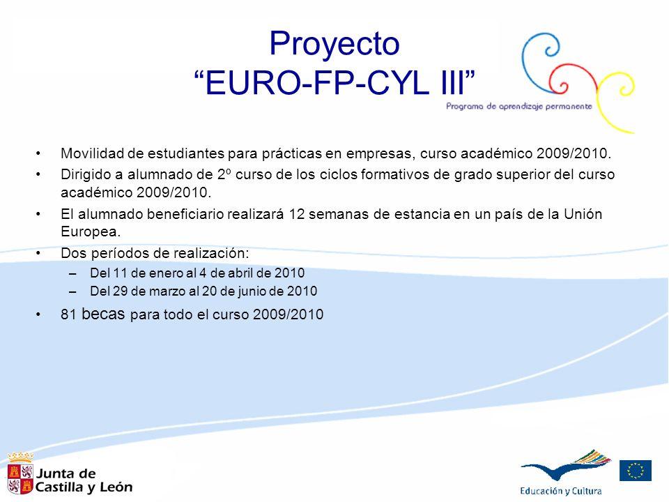 Movilidad de estudiantes para prácticas en empresas, curso académico 2009/2010. Dirigido a alumnado de 2º curso de los ciclos formativos de grado supe