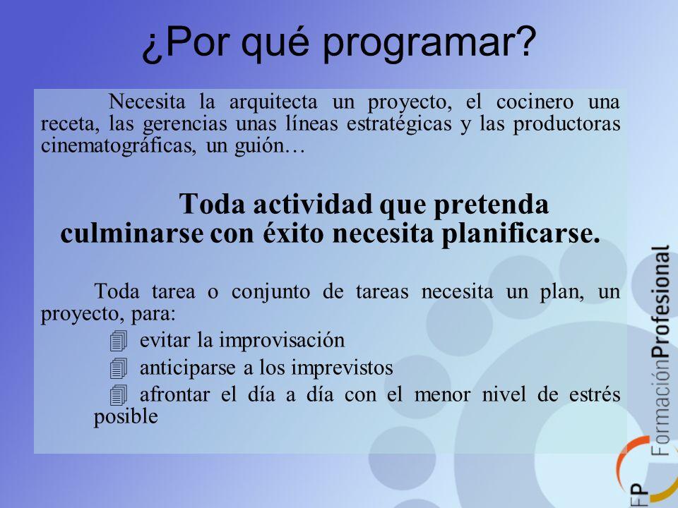 ¿Por qué programar? Necesita la arquitecta un proyecto, el cocinero una receta, las gerencias unas líneas estratégicas y las productoras cinematográfi