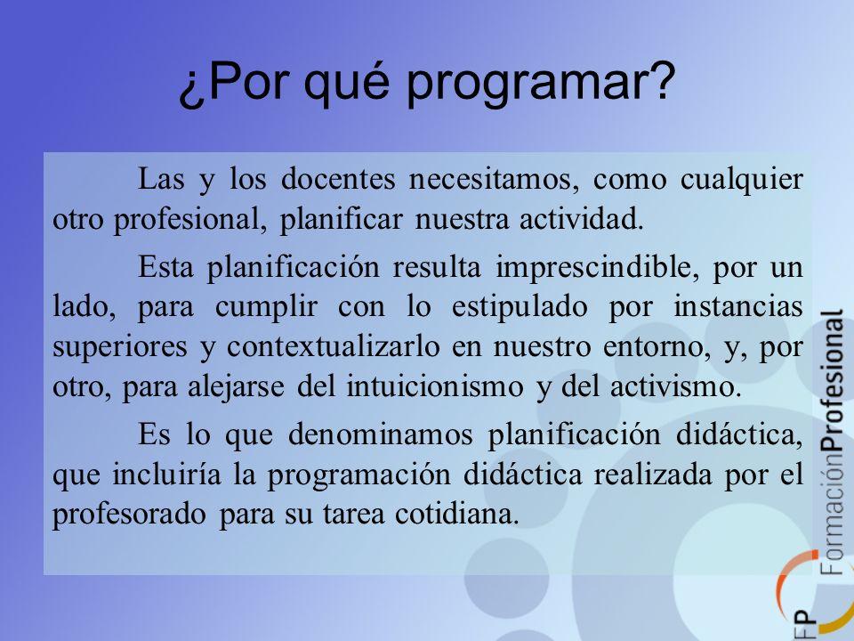 ¿Qué es la programación didáctica.
