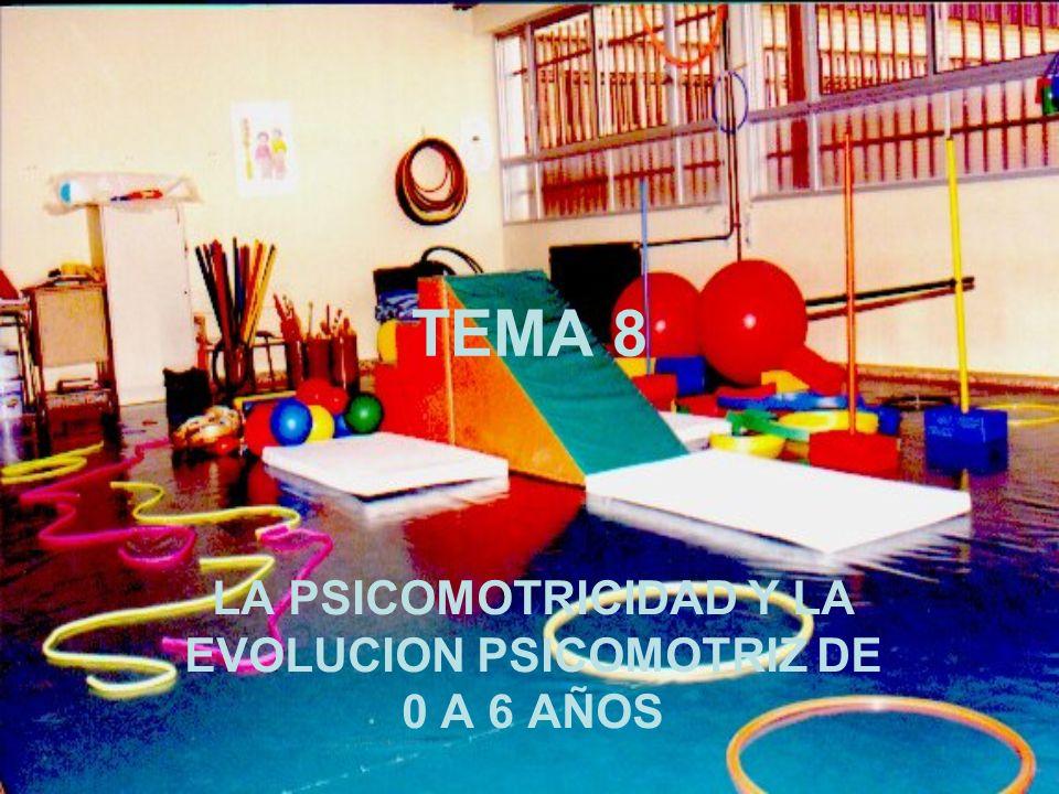 TEMA 8 LA PSICOMOTRICIDAD Y LA EVOLUCION PSICOMOTRIZ DE 0 A 6 AÑOS