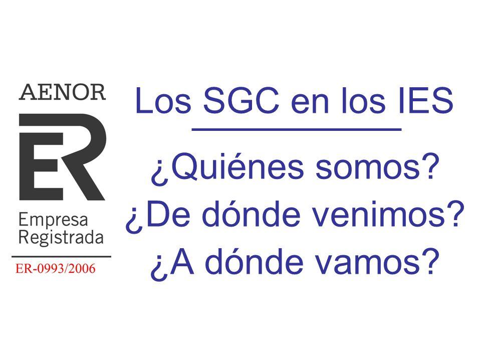 Diapositiva 5 Nuestros SGC: historia y estado Curso 1999-2000 –el Departamento de Educación y Ciencia del Gobierno de Aragón tomó la iniciativa de impulsar la implantación de sistemas de gestión de calidad de acuerdo con las normas ISO 9000 en centros de la Comunidad que impartiesen enseñanzas de Formación Profesional ¡¡ Hace ya 10 primaveras !!
