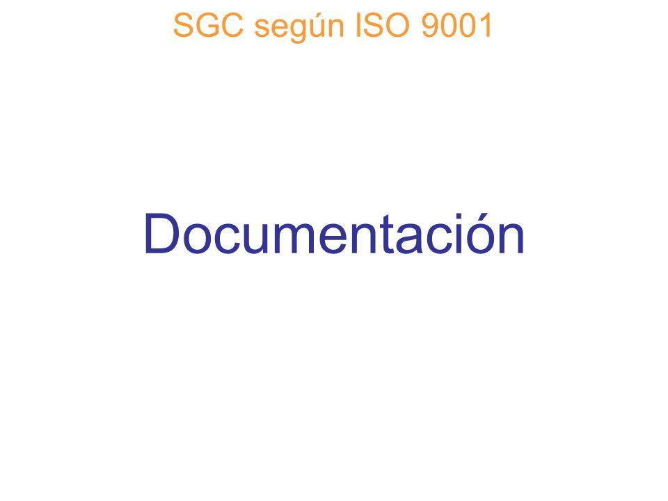 Diapositiva 43 SGC según ISO 9001 Documentación