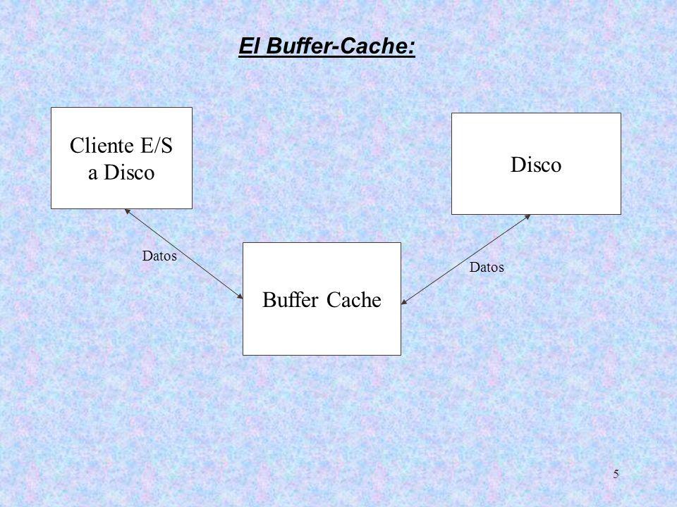6 El buffer-cache gestiona las memorias intermedias asociadas a los bloques de disco.