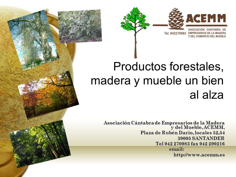 Algunos datos sobre el sector en CANTABRIA Explotaciones Forestales Industria de la madera excepto muebles Industria del mueble comercio de muebles y de otros productos de madera Total Nº de empresas 905202553501215 Nº trabaja 32280046010342616