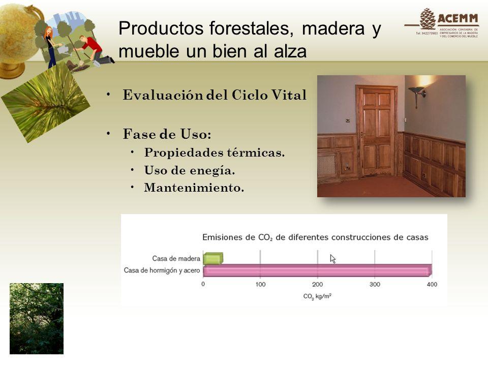 Productos forestales, madera y mueble un bien al alza Evaluación del ciclo vital: Fase final de vida utíl Reutilización: Fabricación de tableros de partículas.
