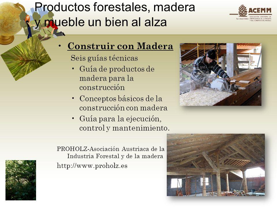 Productos forestales, madera y mueble un bien al alza Asociación Cántabra de Empresarios de la Madera y del Mueble, ACEMM, Plaza de Rubén Darío, locales 52,54 39005 SANTANDER Tel 942 270983 fax 942 290216 email: acemm@acemm.es