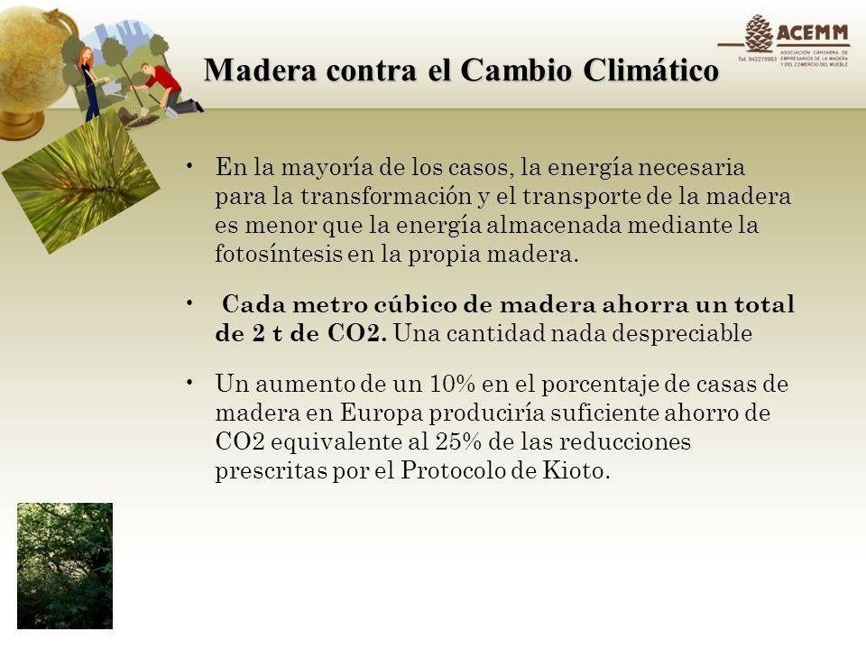Madera contra el Cambio Climático La madera un almacen de CO2.