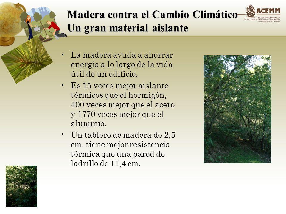 Madera contra el Cambio Climático Evaluación del Ciclo Vital Impacto ambiental Fase de Producción: Extracción Producción Transporte a la obra