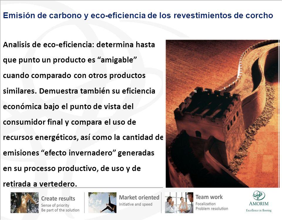 Analisis de eco-eficiencia: determina hasta que punto un producto es amigable cuando comparado con otros productos similares. Demuestra también su efi