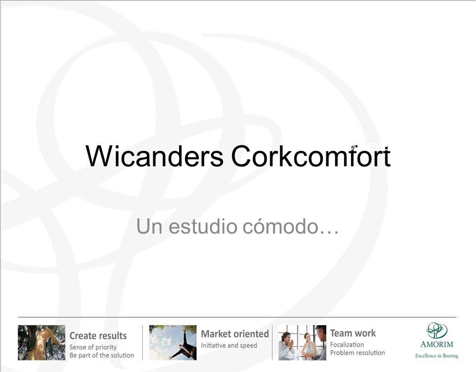 Wicanders Corkcomfort Un estudio cómodo… AMORIM REVESTIMIENTOS