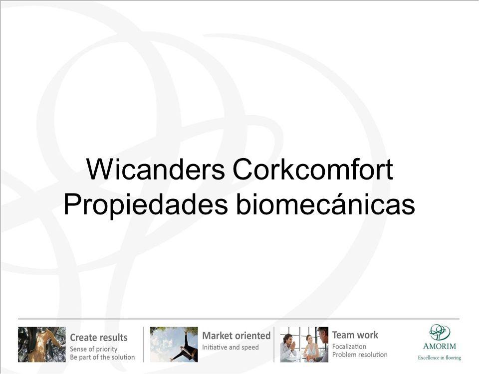 Wicanders Corkcomfort Propiedades biomecánicas