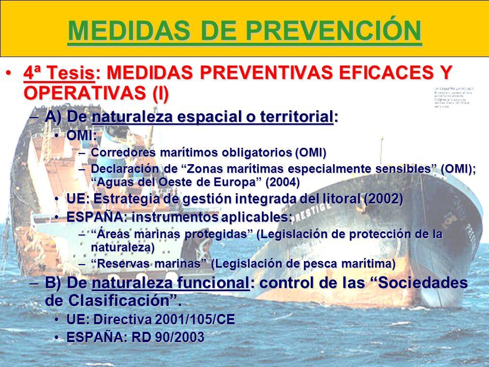 MEDIDAS DE PREVENCIÓN 4ª TesisMEDIDAS PREVENTIVAS EFICACES Y OPERATIVAS (I)4ª Tesis: MEDIDAS PREVENTIVAS EFICACES Y OPERATIVAS (I) –A) De naturaleza e