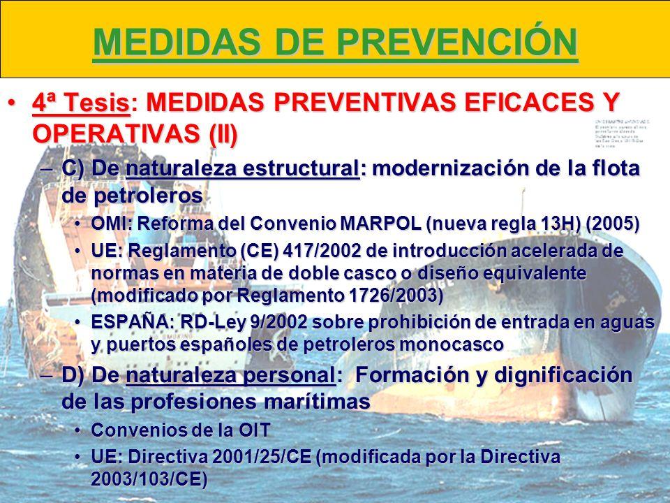 MEDIDAS DE PREVENCIÓN 4ª TesisMEDIDAS PREVENTIVAS EFICACES Y OPERATIVAS (II)4ª Tesis: MEDIDAS PREVENTIVAS EFICACES Y OPERATIVAS (II) –C) De naturaleza