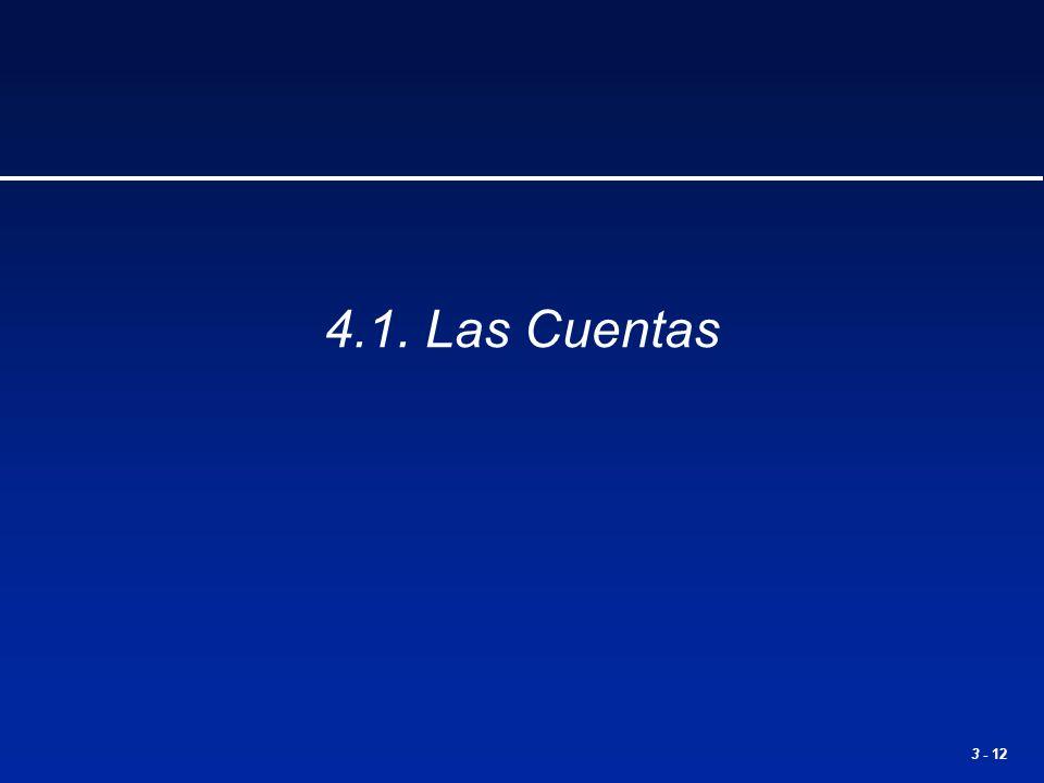 3 - 12 4.1. Las Cuentas