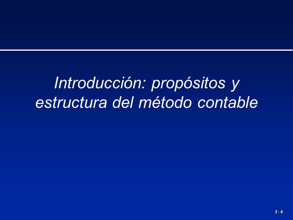 3 - 4 Introducción: propósitos y estructura del método contable
