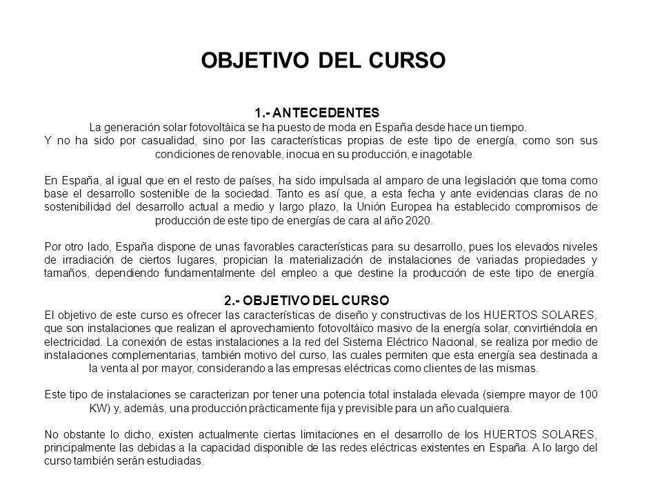 1.- ENERGÍA ELÉCTRICA DE PRODUCCIÓN FOTOVOLTÁICA.