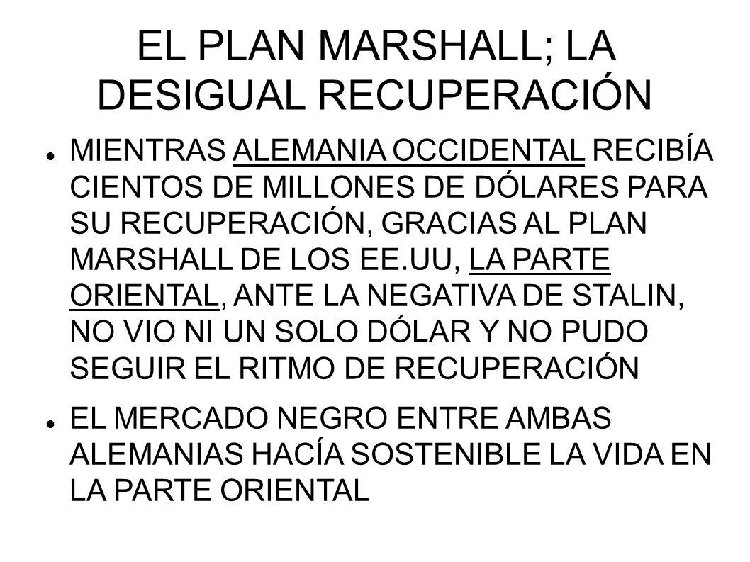 EL PLAN MARSHALL; LA DESIGUAL RECUPERACIÓN MIENTRAS ALEMANIA OCCIDENTAL RECIBÍA CIENTOS DE MILLONES DE DÓLARES PARA SU RECUPERACIÓN, GRACIAS AL PLAN M