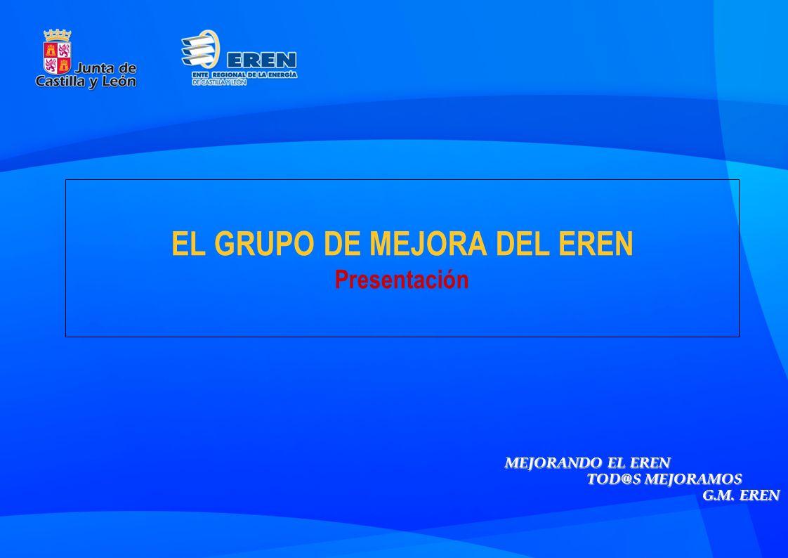 EL GRUPO DE MEJORA DEL EREN Presentación MEJORANDO EL EREN TOD@S MEJORAMOS G.M. EREN