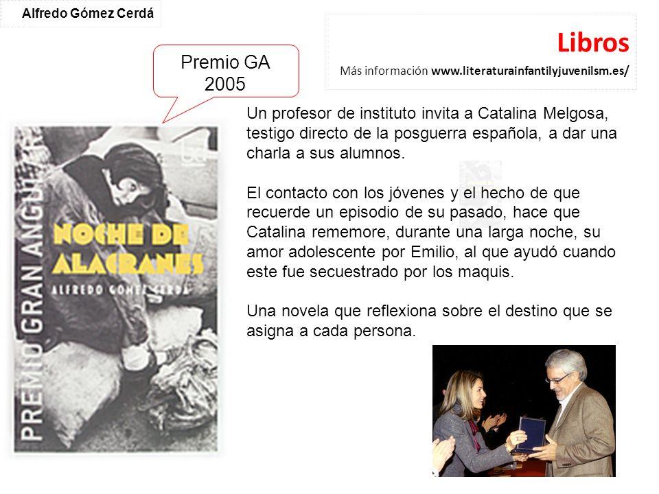 Libros Más información www.literaturainfantilyjuvenilsm.es/ Un profesor de instituto invita a Catalina Melgosa, testigo directo de la posguerra españo