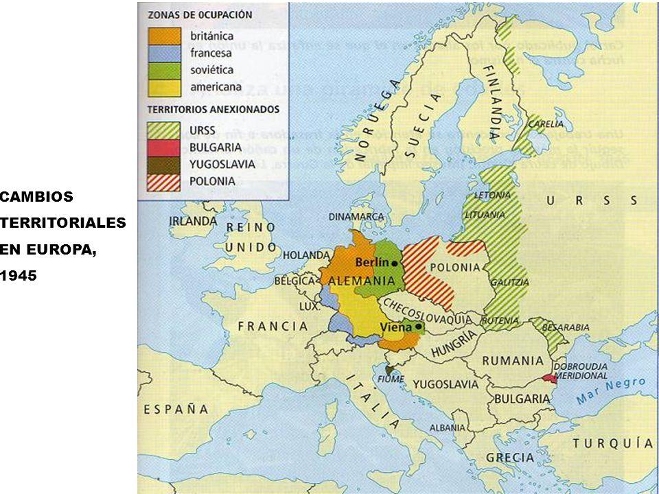 CAMBIOS TERRITORIALES EN EUROPA, 1945