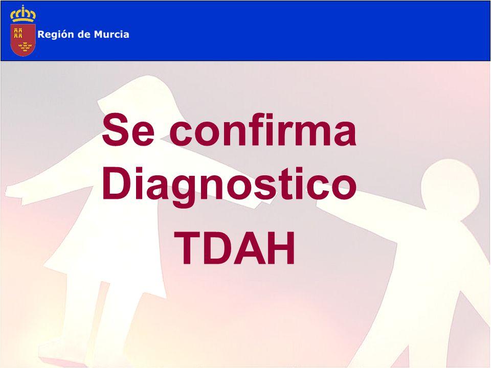 Se confirma Diagnostico TDAH