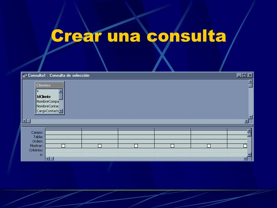 Ejemplo de Creación de consulta
