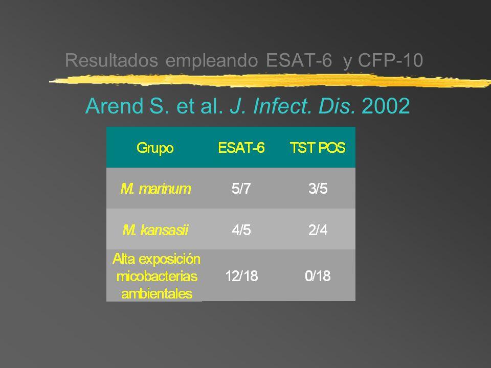 Resultados empleando ESAT-6 y CFP-10 Arend S. et al. J. Infect. Dis. 2002