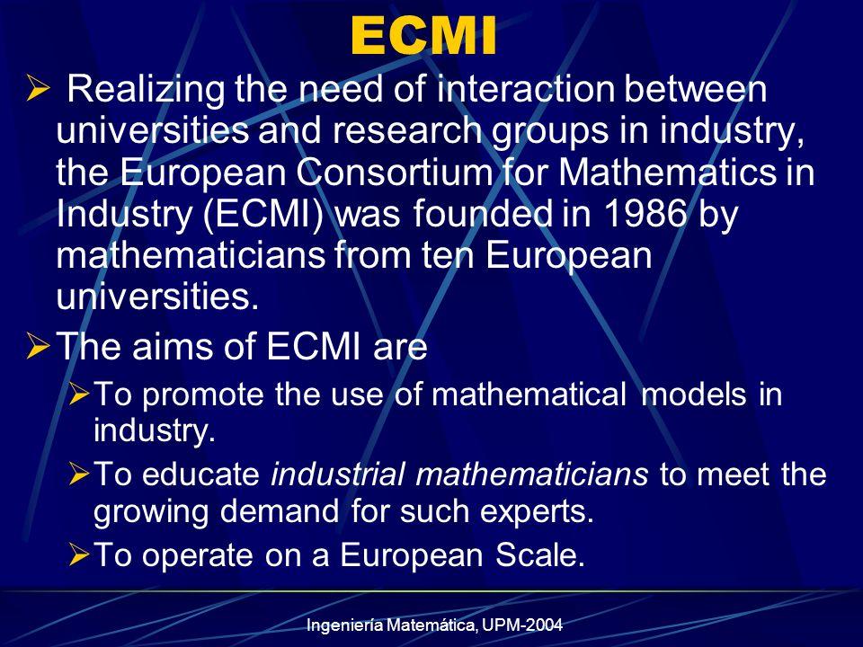 Ingeniería Matemática, UPM-2004 30 ALUMNOS.