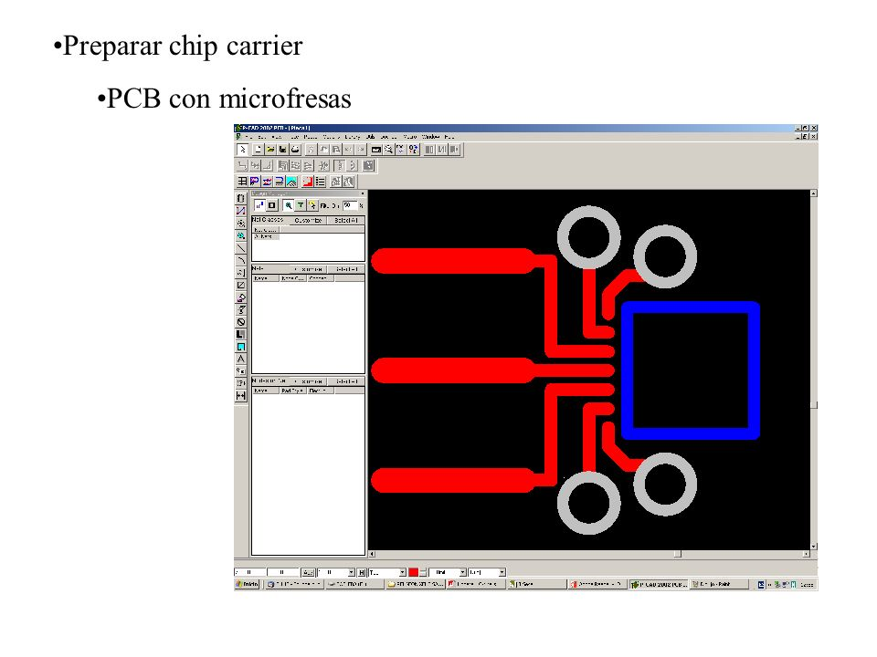 Preparar chip carrier PCB con microfresas