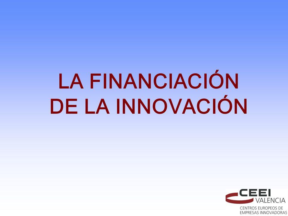 LA FINANCIACIÓN DE LA INNOVACIÓN