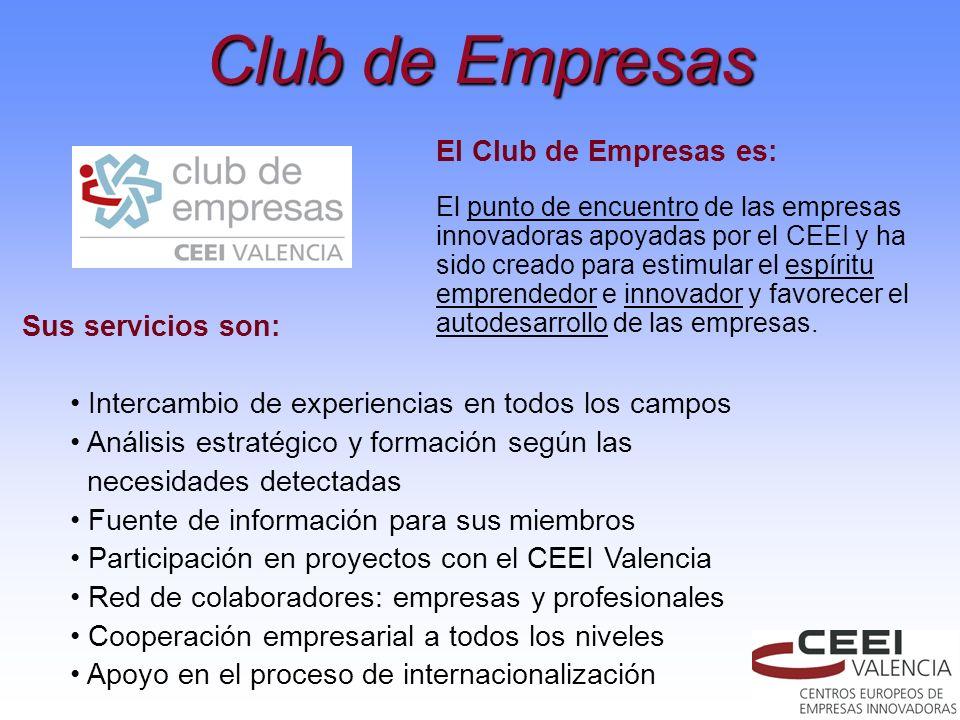 El Club de Empresas es: El punto de encuentro de las empresas innovadoras apoyadas por el CEEI y ha sido creado para estimular el espíritu emprendedor